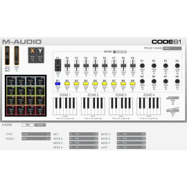 MIDI-клавіатура 61 клав. aftertouch M-AUDIO Code 61 Black  PC/Mac