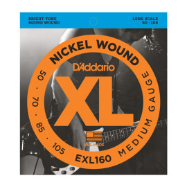 Струни для 4- струн. бас-гітари D`ADDARIO EXL160 XL MEDIUM 50-105