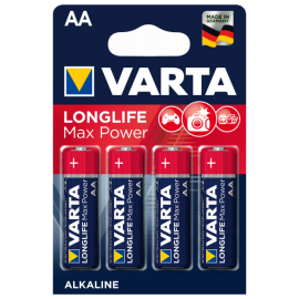 БАТАРЕЙКА VARTA LONGLIFE MAX POWER AA  1 ШТ